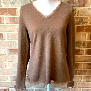 Peck & Peck Pure Cashmere Brown Sweater